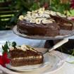 Čoko–banán-nugát torta