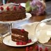 Nugátovo-malinová torta