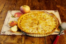 Potešte sa krásnym tenkým koláčikom, upečeným z kvalitného maslového cesta....