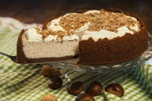 Seasonal cheesecake massacre with us during the cold days marks the chestnut cheese....