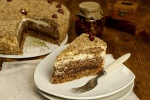 Inspiration for this cake campe from the recipe of grandma. We baked this...