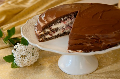 Makovo-nugátová torta