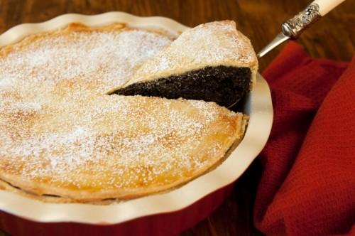Makový koláč s orechmi
